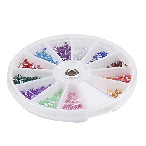 Amazon.com: utda.sh-fs uñas de mujer 12 colores 0.059 in ...