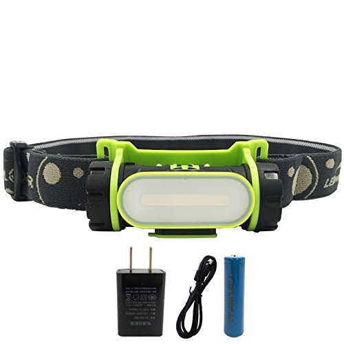 Super Tiger LED Rechargeable Headlamp Adjustable and Waterproof COB Dimmable Floodlight For Hiking, Camping, Reading, Car Repairing