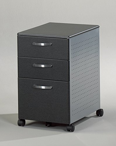 Mayline 992ANT Small Office – Home Office Anthracite Thermo foil Pedestals, Metallic Gray Paint