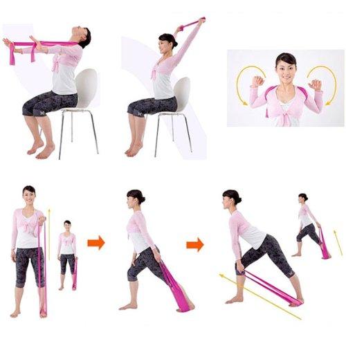 1,2 m 121,92 cm BestOfferBuy Yoga Banda de Resistencia ejercicio estándar de entrenamiento elástico