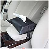 eJiasu Car Tissue Holder, Car Kleenex Holder, Car Kleenex Box, Tissue Box Cover Car Tissues Napkin Holder PU Leather for Car, Home, Office