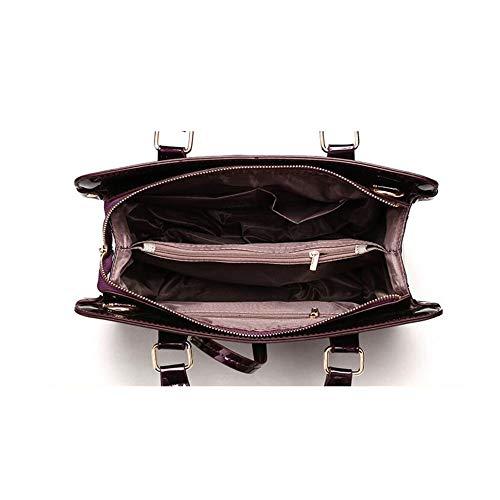 Ensembles Messenger paquet Trois Black Brillant épaule Ladies Main épaule Sac En Sous De à Bag Main Portefeuille Cuir Sac à qIOdxp5w