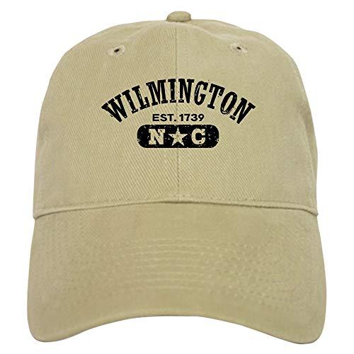 CafePress Wilmington NC Baseball Cap with Adjustable Closure, Unique Printed Baseball Hat Khaki