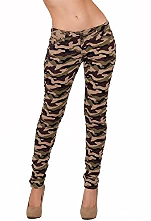 Fashion Printed Trendy Skinny Jean Jeggings Zip Tight Up Button Closure Pants