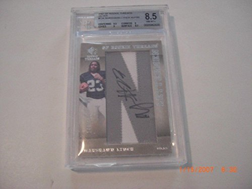 Marshawn Lynch 07 Sp Rookie Threads Letterman Jersey Auto 144/150 Signed Card - Football Slabbed Autographed Rookie Cards ()