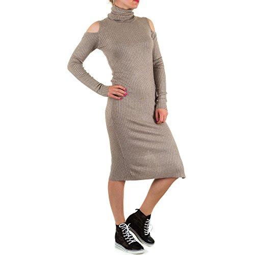 Ital-Design - Vestido - Sin tirantes - para mujer Beige