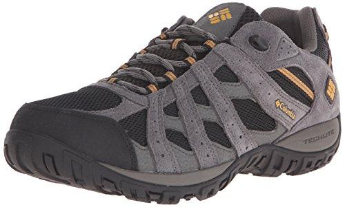 Columbia Men's Redmond Waterproof Hiking Shoe, Black, Squash, 11.5 2E US