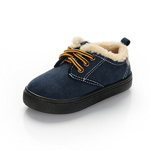 BENHERO Baby Girls Boys Warm Winter Anti-Skid Slip-on Outdoor Snow Boots(Toddler/Little Kid) (6.5 M US Toddler, 482 Navy) by BENHERO (Image #1)