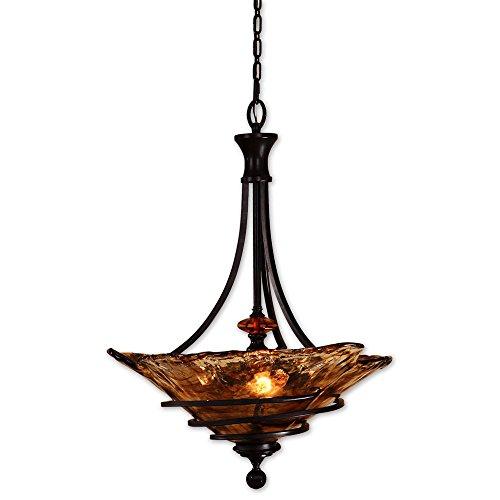 Vitalia 3 Light Pendant - Siam Circus Vitalia 3-light Oil Rubbed Bronze Pendant