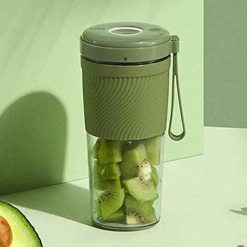 BLENDER Licuadora Portátil, Vaso Exprimidor - Cuchillas En Dos, Batidora De Frutas con Baterías Recargables USB De 1600 MAh, (Verde) HuaYing