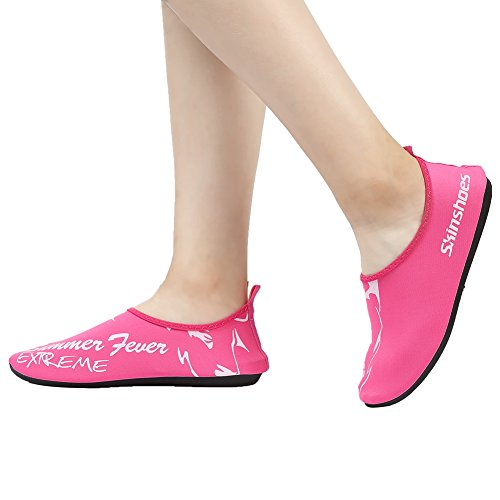Cior Uomini Donne E Bambini Quick-dry Water Shoes Calze Aqua Leggere Per Beach Pool Surf Yoga Exercise 01.pink
