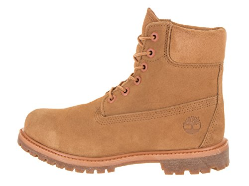 with Beige Leather Collar Timberland Waterproof Premium Added Durable Boots Comfort for Women��s Uppers inch 6 Padded ZRqpzS