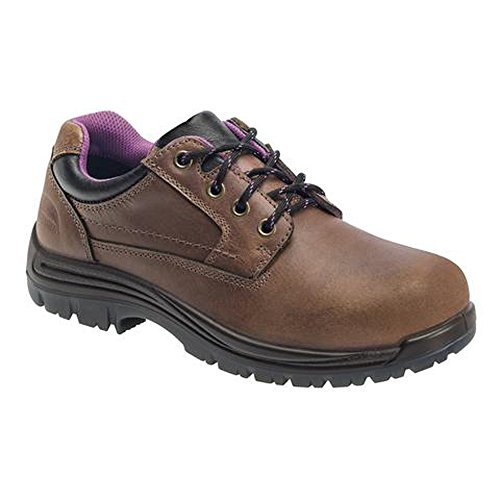 Composite Toe Metal (Avenger CT Slip-Resistant Metal-Free Oxford Women's Oxford 10 B(M) US Brown)