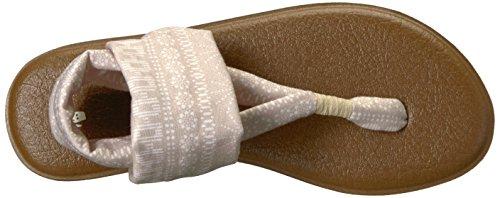 Sanuk Damen Yoga Sling # 2 Prints Zehentrenner Natuurlijke Shibori Strepen