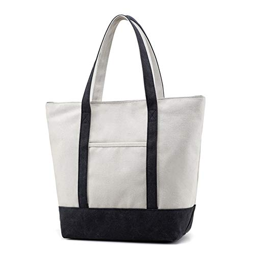 Top Lavoro Spalla gray Bag Scuola Crossbody Borse maniglia Donna Tote Black Borse Mxqh Tela Signore Borsa Hobo UXqwHT