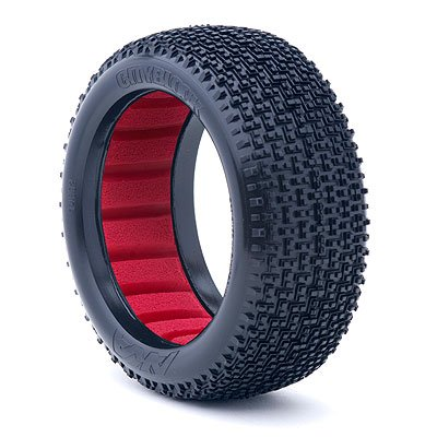 AKA Racing 14002SR 1:8 Buggy City Block Soft Tire with Red (City Block Tires)