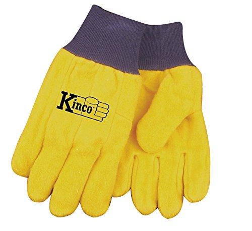 Leather Chore Glove (Kinco 035117816077 16 oz Chore Glove, XX-Large, Yellow, Single Pair)