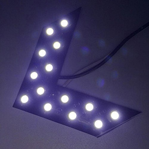 Emubody Turn Signal Car Light 2 Pcs 14 SMD LED Arrow Panel Rear View Mirror Indicator Car Lights - Led Arrow Blue Mirrors