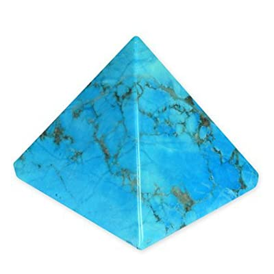Turquoise Howlite Pyramid - YHT3 - Small