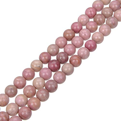 2 Strands Top Quality Natural Pink Rhodonite Gemstone 8mm Round Loose Gems Stone Beads for Jewelry Craft Making GF9-8