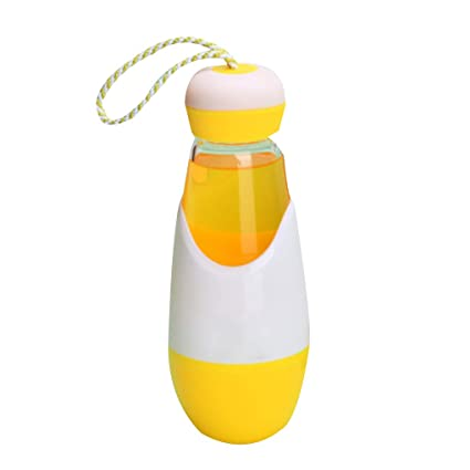Provide The Best Botella de Cristal de Agua 300ML del Estuche Lazo Libre de BPA Mini
