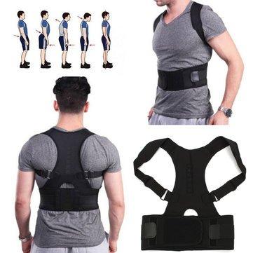 Posture Corrector - back posture corrector - posture corrector for men - Back Corrector - Fully Adjustable Hunchbacked Posture Corrector Lumbar Back Magnets Support Brace Shoulder Band Belt (XL) by Generic (Image #6)