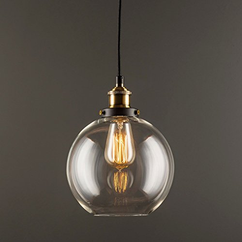 Primo Industrial Kitchen Pendant Light - Antique Brass Hanging Fixture - Linea di Liara LL-P429-AB by Linea di Liara (Image #2)