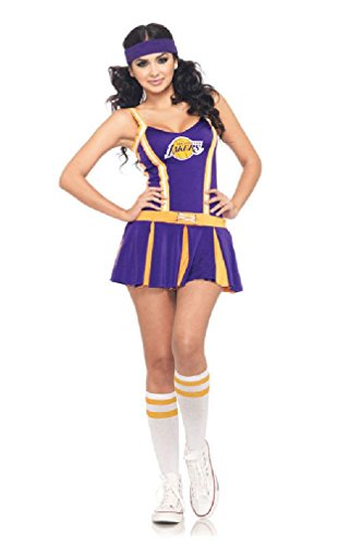 8eighteen Sexy Lakers Cheerleader Adult Halloween Costume (Lakers Costume)