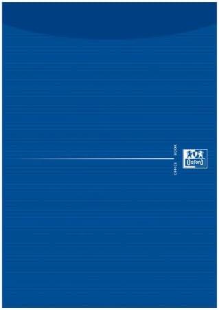 Oxford 100050239 Briefblock 10er Pack A4 blanko 50 Blatt Kopfgeleimt 90g Papier blau