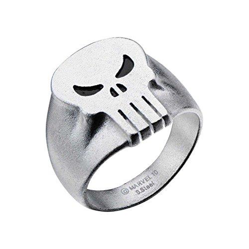Marvel Comics Punisher Skull Stainless Steel Men's Ring, Size 11