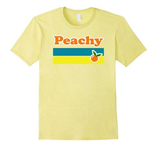 Mens Peachy Tshirt Cute Retro 60s 70s Hippie Summer Vibe Design XL (Summer Love Hippie Costume)