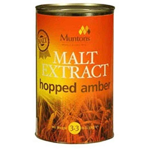 [Muntons Liquid Malt Home Brew Extract- Amber Hopped,3.3Lbs] (Hopped Extract)