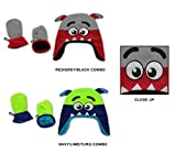 Wholesale Sock Deals 24 Pack Of WSD Baby Boy's and Girl's Fleece Lined Earflap Hat & Mitten Sets - Monster Designs
