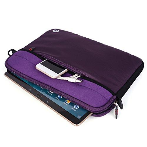 Kroo Tablet/Laptop Hülle Sleeve Case mit Schultergurt für Acer Iconia Tab A3/Tab A500 violett violett violett