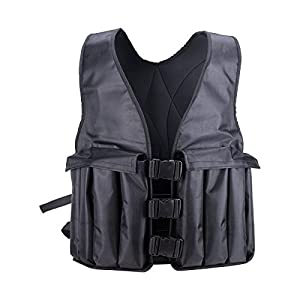 Pinty Adjustable Weighted Vest 20lbs Weight Running Vest for Strength Training Fitness Workout(Weights Included)