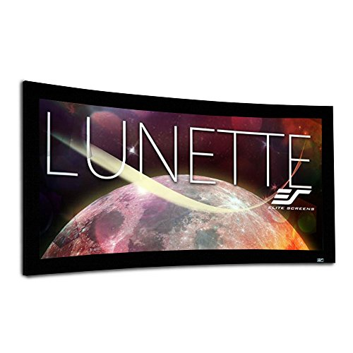 Elite Screens Lunette Series, 138-inch Diagonal 2.35:1, Sound Transparent Perforated Weave Curved Home Theater Fixed Frame Projector Screen, CURVE235-138A1080P3