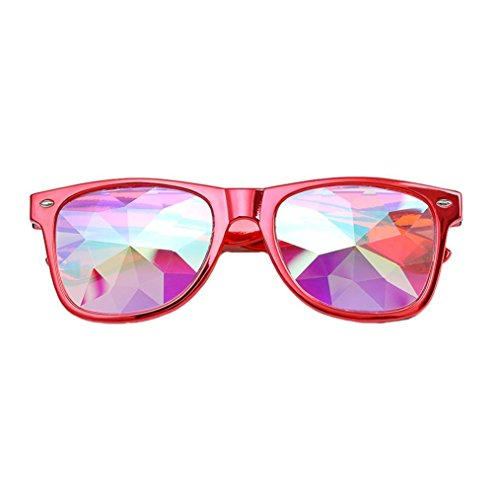 Miklan Fashion Chic Kaleidoscope Glasses Rave Festival Party EDM Sunglasses Rainbow Prism Sunglasses Goggles Diffracted Lens - Goggles Cloud Sunglasses