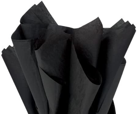 Pack of 2 Black Tissue Paper Sheets
