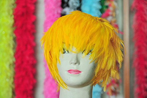Gold Hackle Feather Costume Wig Halloween Costume Coque Feather Wigs (Atlanta, GA)