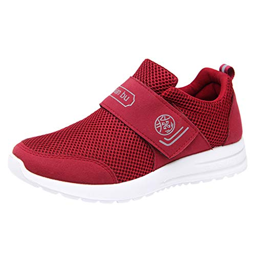 - WILLBE Fashion Sneakers Casual Couples Mesh Breathable Shoes Sports Running Sneakers Shoes Lightweight Outdoor Shoes Red