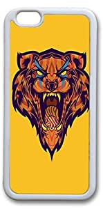 iPhone 6 Cases, Big Mouth Tiger Personalized Custom Soft TPU White Edge Case Cover for New iPhone 6 4.7 inch