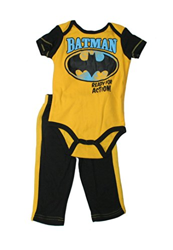 DC Comics Baby Boys' Batman Pants & Onesie Set 2 pc (3/6 Months)