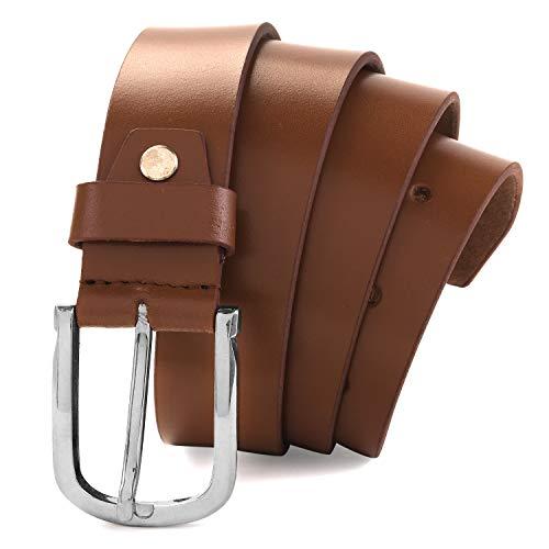 MONKS   KNIGHTS Men's Leather belt for men Formal Casual Belts