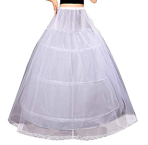 Ieuan Full White Ball Gown 3 Hoops Wedding Accessories Petticoat Underskirt Slips Quinceanera Gown for Wedding Dress