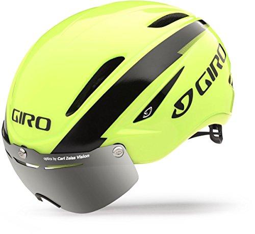 Giro Air Attack Shield Bike Helmet – Highlight Yellow/Black Medium