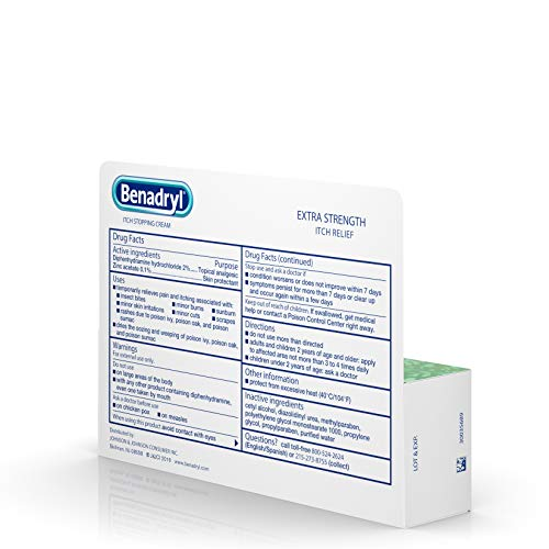 Benadryl Extra Strength Anti-Itch Relief Cream for Most Outdoor