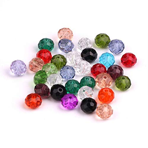 DIY Crafting 15 Colors 8*12mm Waterdrop Shape for Jewelry Making Mixed Colors Crystal Teardrop Beads Assorted Kit Multi-Colors Lustered Loose Spacer Beads Phogary 300pcs Glass Beads