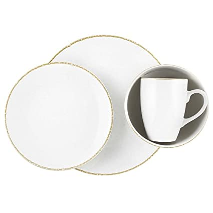 Dansk Bianco White 16-Piece Dinnerware Set Service for 4  sc 1 st  Amazon.com & Amazon.com | Dansk Bianco White 16-Piece Dinnerware Set Service for ...