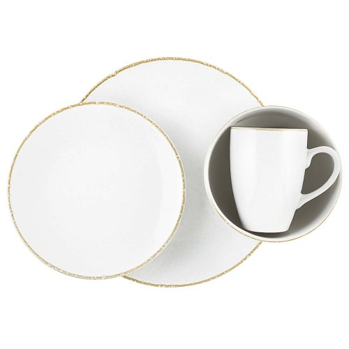 Dansk Bianco White 16-Piece Dinnerware Set, Service for