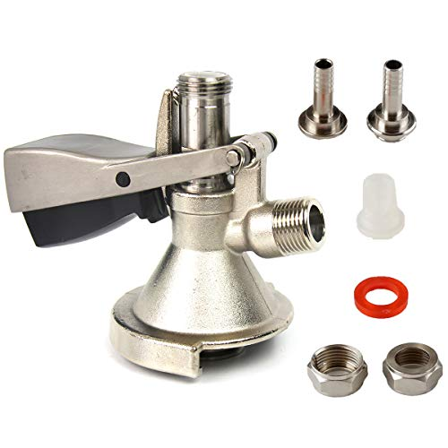 Keg Coupler- A-Type Keg Coupler, Beer Tap for Kegerators, Tap your Keg for the Perfect Brew, Beer Dispenser, a U.S. Solid Product